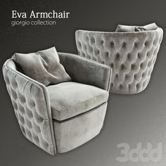3d модели: Кресла - Eva Armchaire (Перезаливка!)