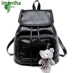 43223e6023 2017 Waterproof school bag women backpack top quality backpacks elegant  Mochila Feminina shiny water wash leather