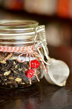 Cute Jar full of yummy loose leaf tea  www.theperfectblendaus.com