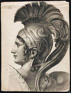 Head of Romulus after Jacques Louis David 1813 Alexandre Lenoir Medieval Art, Renaissance Art, Greek Statues, Academic Art, Roman Art, Greek Art, Classical Art, Art Sketchbook, Ancient Art