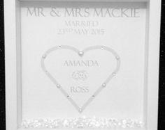 Personalised Wedding Frame by ElizabethsGiftFrames on Etsy