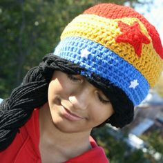 Crochet wonder woman hat  MadebyMe  Maria'sCrochetCreations