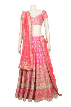 Gorgeous Bridal lehenga in Pink color online – Panache Haute Couture
