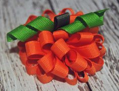 Pumpkin Fall Thanksgiving Halloween Ribbon by BeausAndBowsBoutique, $5.00