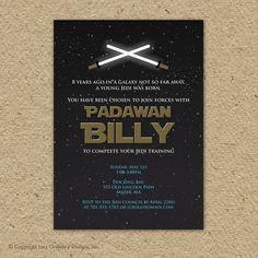 star wars birthday invitations diy