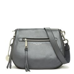 MARC JACOBS Recruit Small Leather Saddle Bag. #marcjacobs #bags #shoulder bags #leather #