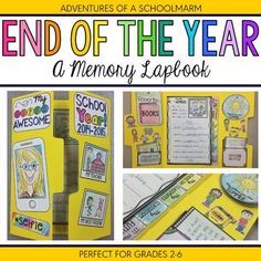 Looking for a fun end of the year activity? This lap book will be perfect for the last week of school before summer! It gives students a hands-on way to reflect on the school year and creates the perfect keepsake.