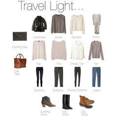 Travel Light packing