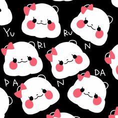 Panda Love, Red Panda, Chibi Cat, Cartoon Panda, Panda Party, Animal Wallpaper, Cute Wallpapers, Cute Art, Hello Kitty