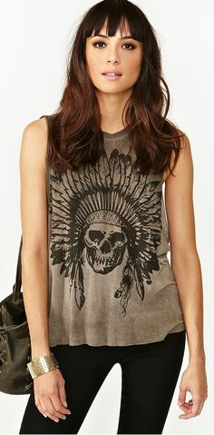 Skeleton chief muscle tee. LOVE this top!