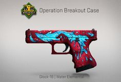 Counter-Strike Global Offensive: Operation Breakout Case: Glock -18 Water Elemental