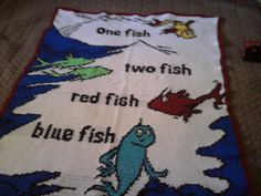 One fish two fish crochet afghan