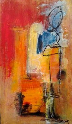 Artwork by Véronique Besançon is part of the Abstract Showcase found at www.ArtsyShark.com. Ten women artists present their work and talk about inspiration.