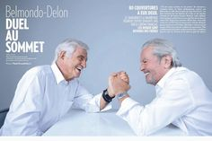 Alain Delon and Jean-Paul in the magazine Paris Match Alain Delon, Paris Match, France, Movie Stars, Superstar, Retro, Learning, Celebrities, Respect
