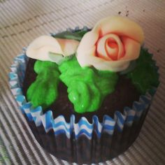 Chocolate cupcake with buttercream frosting
