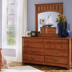 Cheap 5709A City Park Dresser with Coordinating Mirror 6 Pullout Storage Drawers and Solid Wood Construction in Price - A reflection of the Arts and Crafts movement the City Park Double Dresser is comfortably eclectic It incorporates both pull knobs and...