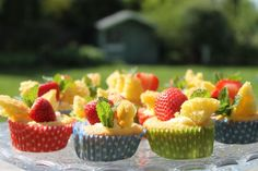 Strawberry and vanilla butterfly cakes  http://willowcottagegarden.wordpress.com/
