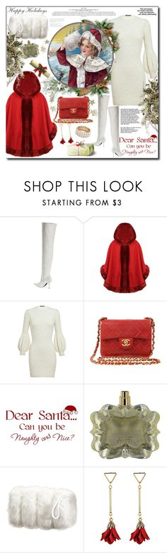 """,, Welcome Christmas...."""" by purplecherryblossom ❤ liked on Polyvore featuring Jeffrey Campbell, Alexander McQueen, Chanel, WALL, Jessica Simpson, Design Lab and vintage"