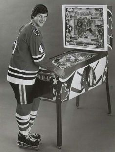 Bobby Orr Bally Power Play Pinball Machine Vintage Reprint Of Old Photo Bobby Orr Bally Power Play Pinball Machine Vintage Reprint Of Old Photo Here is a neat collectible featuring Bobby Orr Blackhawks Hockey, Hockey Teams, Chicago Blackhawks, Hockey Players, Hockey Stuff, Hockey Decor, Hockey Pictures, Bobby Orr, Hockey Rules