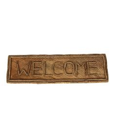 DIY inspiration-Rustic Branch 'Welcome' Sign