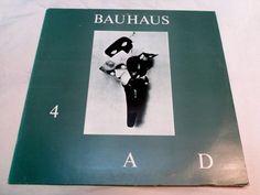 Vintage Bauhaus 4 AD Vinyl Record Album 1983 by DecrepitudeAplenty, $22.00