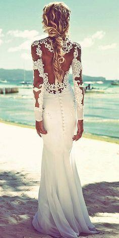 Beach Wedding Dresses Of Your Dream ❤ See more: http://www.weddingforward.com/beach-wedding-dresses/ #weddings #vestidodenovia | # trajesdenovio | vestidos de novia para gorditas | vestidos de novia cortos http://amzn.to/29aGZWo