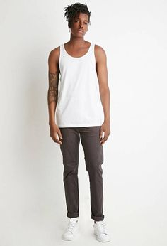 #men#fashion#male#style#menfashion#menwear#menstyle#clothes #man #ad 21 MEN Classic Tank Top