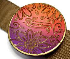 Purple-Orange Wedding Ring Dish- Always and Forever Dish- polymer clay Dish- Personalized Ring Dish- Wedding Favor- Jewelry Storage by BeadazzleMe on Etsy https://www.etsy.com/listing/292909351/purple-orange-wedding-ring-dish-always