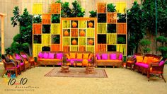 Image result for outdoor hindu mehndi night decor