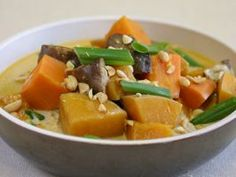 Southeast Asian Slow-Cooked Winter Vegetables : This hearty vegetable stew is perfect for winter. Use up those sweet potatoes, butternut squash and mushrooms, and bathe them in this gorgeous Southeast Asian-inspired broth of coconut milk and sambal oelek.