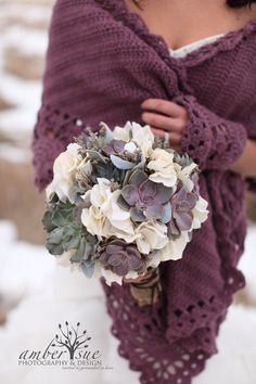 Succulent Wedding Bouquet, Rustic bouquet, Spring wedding bouquet. Kind of like this