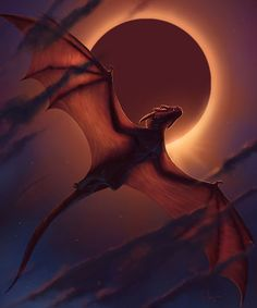 Smaugust 29 - Dragon in Flight - Dragon Eclipse II. - - Smaugust 29 – Dragon in Flight – Dragon Eclipse II… – - Mythical Creatures Art, Magical Creatures, Dragon Rouge, Dragon Dreaming, Cool Dragons, Dragon Artwork, Dragon Pictures, Fantasy Art, Beast