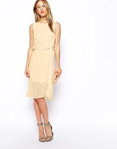 Image 1 ofASOS Drape Midi Dress