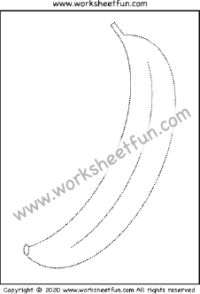 Picture Tracing – Banana – One Worksheet / FREE Printable Worksheets – Worksheetfun Easter Worksheets, Kindergarten Addition Worksheets, Coloring Worksheets, Tracing Worksheets, Free Printable Worksheets, Kindergarten Worksheets, Tracing Shapes, Number Tracing, Tracing Letters