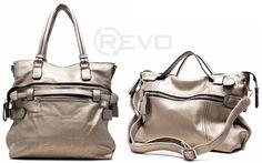 gray two-way tote and shoulder handbag ($62.50)
