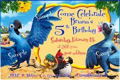 RIO birthday invitation RIO Birthday Party  by MassimoBontempell, $5.99