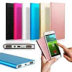 Ultra-thin Portable Power Bank External Battery Pack Portable Dual USB PowerBank Charger for Android iPhone Smart Phone Cell Phone Deals, Best Cell Phone, S7 Phone, Phone Wallet, External Battery Charger, Solar Charger, Phone Battery Charger, Portable Battery, Portable Charger