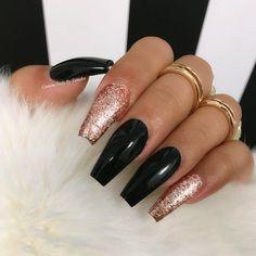 Glitter Coffin Nails Design Picture 6