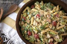 Chicken Caesar pasta salad recipe - Of course I will be using a vegetarian alternative for the chicken