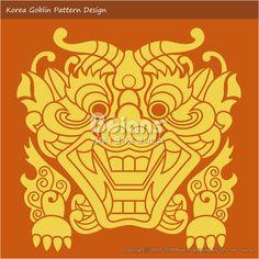 한국의 도깨비 문양 패턴디자인. 한국 전통문양 패턴 디자인 시리즈. (BPTD020266) New Launched Korea Goblin Pattern Design. Korean traditional Design Series. (BPTD020266) Copyrightⓒ2000-2014 Boians.com designed by Boians Cho Joo Young.