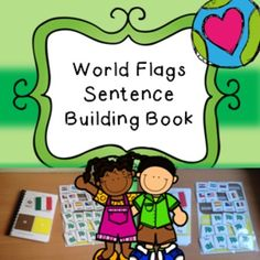 Activity with over 30 flags to work. Completes with complete set up to make into a book to use with your pupils. Part of our non-verbal literacy program. Supporting pupils to build sentences.   Please view the preview to be able to see the completed books