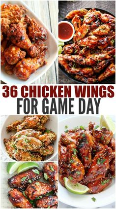 36 + Chicken Wings For Game Day- We baked and fried. We have sweet, spicy, citrusy, spicy, mild and Chicken Wing Flavors, Chicken Wing Sauces, Grilled Chicken Wings, Chicken Wing Recipes, Recipe Chicken, Sauce For Chicken Wings, Sauce For Wings, Chipotle Chicken Wings Recipe, Crockpot Chicken Wings