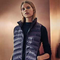 Enjoy exclusive #cybermonday offers  free shipping from Calvin Klein featuring the metallic puffer vest in a selection of shades.  Available now. Link in profile to shop [US]. - Shop now for calvinklein > http://ift.tt/1Ja6lvu