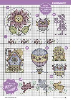 TS Seasonal Sweeties by Joan Elliott 7/8 The World of Cross Stitching Issue 225 pin furry