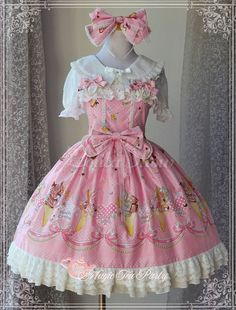 Here's a collection of beautiful tailored Lolita dresses and coats from Magic Tea Party including velvet dresses for women, cotton blouses for women and more. Magic Tea Party helps you enjoy the beauty of Lolita fashion. Harajuku Fashion, Kawaii Fashion, Lolita Fashion, Cute Fashion, Girl Fashion, Fashion Dresses, Moda Lolita, Lolita Mode, Style Lolita