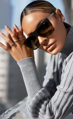 Quay x Desi Perkins On the Low 60mm Square Sunglasses