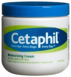 Cetaphil moisturizing cream--formulated specifically for chronic dry, sensitive skin--contains a superior system of extra-strength emollients and humectants clinically proven to bind water to the skin and prevent moisture loss. The result is long-lasting relief for even severely dry skin. The non-greasy formula is excellent for hands, feet, elbows, knees, and any other areas that require intensive moisturization. It's also cosmetically appealing for facial use. Free of lanolins & parabens.
