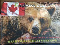 """*New car signs , just arrived, Canada Eco.Com """"Canada 🎯👍♻️⚖️✔️💚🌏🇨🇦Make It Happen!"""" Car Signs, Canada, Make It Happen, Brown Bear, Shit Happens"""