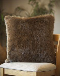 Faux Fur Pillow Cover Sun Bear Brown Pottery Barn