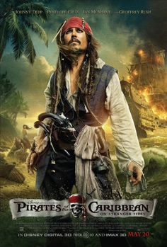 Pirates of the Caribbean 4 - On stranger tides Johnny Depp! Johnny Depp as Captain Jack Sparrow Penelope Cruz as Angelica Ian Mcshane as B. Film Movie, See Movie, Captain Jack Sparrow, Johnny Depp, Here's Johnny, Movies Showing, Movies And Tv Shows, Film Pirates, On Stranger Tides